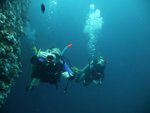 Tauchgang im Mittelmeer